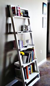 lovely unique floating bookcase on white wall cool plus ivory