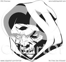 clipart illustration of the head of the grim reaper partially in