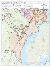 Northern Virginia County Map by Legislative Transit Maps U2013 Northern Virginia Transportation Commission