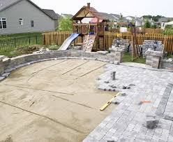 How To Lay A Paver Interesting Design Patio Paver Installation Magnificent Concrete