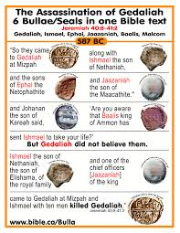 bulla of gedaliah who is over the house bible clay bulla and