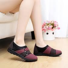 Black Comfort Shoes Women Cheap Beijing Shoes Women Casual Flat Mother Slip On Lady Comfort