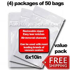 bags in bulk weston zipper seal vacuum bags bulk 6x10 200 ct 30 0206 v