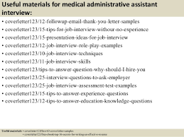 top 5 medical administrative assistant cover letter samples