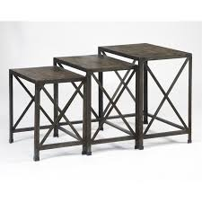 3 piece nesting tables ashley vennilux 3 piece nesting tables in gray and brown t500 716