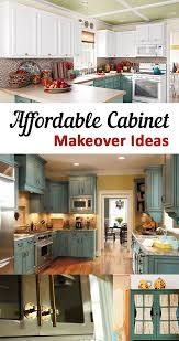 best teal kitchen cabinets ideas pinterest turquoise affordable cabinet makeover ideas great options projects and tutorials for updating your cabinets