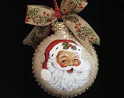 santa ornaments etsy