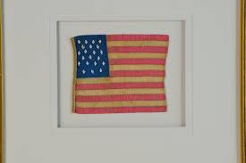 Americana Flags 21 Star Flag Hand Sewn Silk Sku 11085 Historical Americana