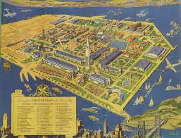 Chicago Columbian Exposition Map by Designing Eye Queens Museum