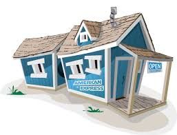 american express crooked playhouse design kids crooked house