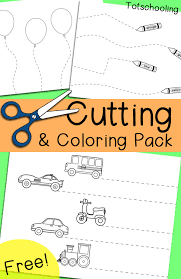 printable preschool cutting activities free cutting coloring pack totschooling toddler preschool