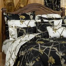 Mossy Oak Camo Bed Sets Shop Realtree All Purpose Black Bed Linens The Home Decorating