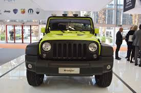 jeep wrangler front jeep wrangler rubicon with moparone pack front at 2016 bologna