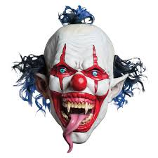 killer clown mask morbid enterprises snake tongue evil clown mask walmart