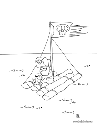 pirate raft coloring pages hellokids com