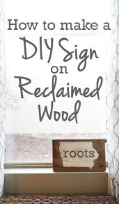 88 best rise and renovate images on pinterest bathroom makeovers wood sign with reclaimed wood