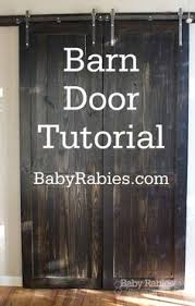 How To Make A Barn Door Track Diy Sliding Barn Door Much Cheaper Option Home Pinterest
