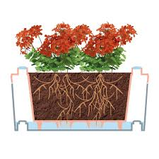 Self Watering Planters The Self Watering Modular Planters Hammacher Schlemmer