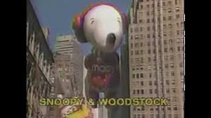 macy s parade 1988 snoopy and woodstock