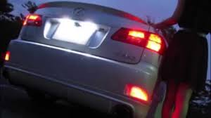 led bumper reflector lights for 2006 2013 lexus is250 is350