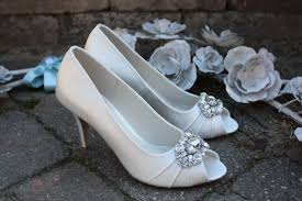 2 inch heel wedding shoes ivory wedding shoes toe embellishment available in