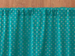 Shimmer Sheer Curtains Indian Sari Curtain Turquoise Gold Saffron Marigold