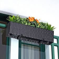 balkon blumenkasten balkon blumenkasten im rattan look jetzt reduziert bei lesara