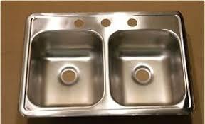 rv kitchen sink replacement 25 x 17 stainless steel sink double bowl holes rv trailer kitchen