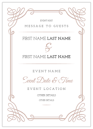 Invitation Cards Maker Free Scroll Down The Aisle Invitation Card Design Template