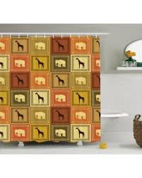 Shower Curtains Sets For Bathrooms by Spring Into This Deal On Safari Decor Shower Curtain Set African