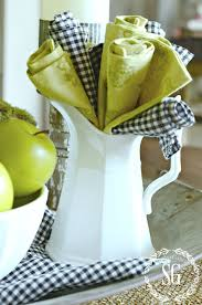 early fall and green apples a kitchen vignette stonegable