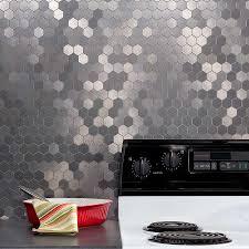 kitchen backsplash kit miniquattro in crosshatch silver tikspor