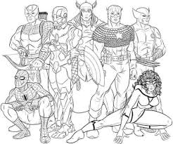 avengers spiderman woman coloring pages picture