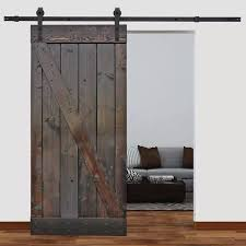 barn doors calhome solid wood panelled pine slab interior barn door reviews