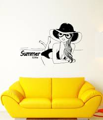 online get cheap tanning beach aliexpress com alibaba group wall decal sexy girl summer time beach tan swimsuit babe vinyl stickers china