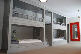 Four Bunk Bed Four Bunk Beds In One Room Home Design Ideas