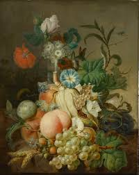 flowers and fruit still with flowers and fruit 1800 1808 painting jan