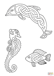 celtic animals designs 3 coloring page free printable coloring pages