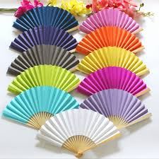 held paper fans free shipping 50pcs lot colorful held paper fan for wedding