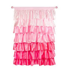 Ruffled Pink Curtains Light Pink Ruffle Curtains Wayfair