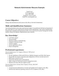 resume objective sle network administrator resume sle cover letter template for