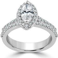 3 4ct pave halo blue halo diamond engagement rings collection on ebay