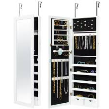 wall mirror jewelry cabinet bestchoiceproducts rakuten best choice products mirrored hanging