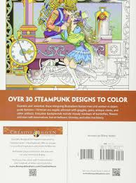 amazon com creative haven steampunk designs coloring book