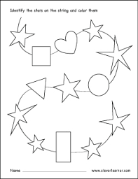 free star shape activity sheets for children