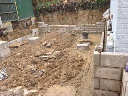 Concrete Block Garden Wall by Retaining Boundary Wall In Beighton Sheffield Bricklayers In
