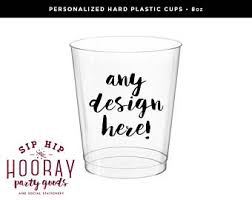 clear plastic cups for wedding clear plastic cups etsy