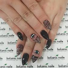 40 black nail art ideas black nail polish black nails and eye