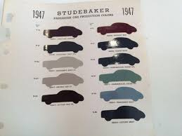 sell 1947 studebaker sherwin williams automotive paint color chip