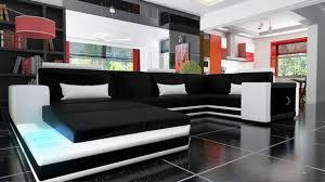 sofa mit beleuchtung ledersofa wohnlandschaft ecksofa mit beleuchtung big